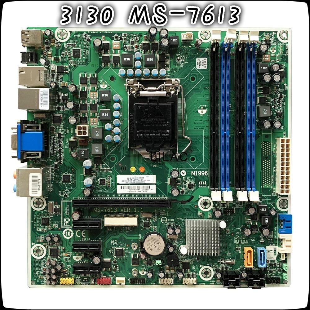 все цены на Original For HP 3130 7100 MS-7613 608885-001 Desktop motherboard DDR3 LAG 1156 HM57 онлайн