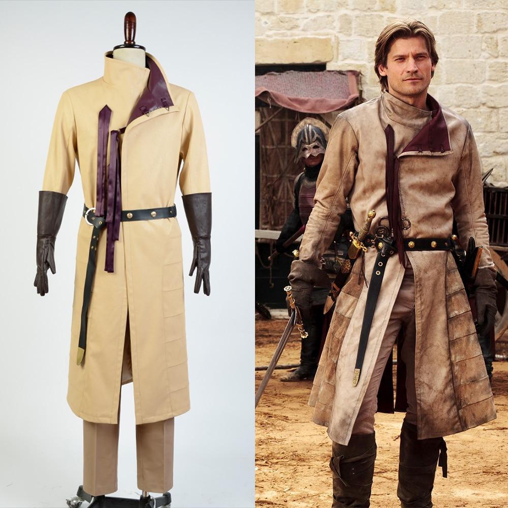 GoT Game of Thrones Kingslayer Ser Jaime Lannister Outfit Cosplay Costume For Adult Men For Hallowen