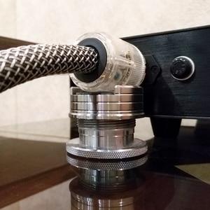 Image 1 - LP In Vinile Record Regolabile HIFI Diffusori Audio cavo di alimentazione Pad Anti shock Ammortizzatore Pad di Assorbimento delle Vibrazioni Espositori e Alzate
