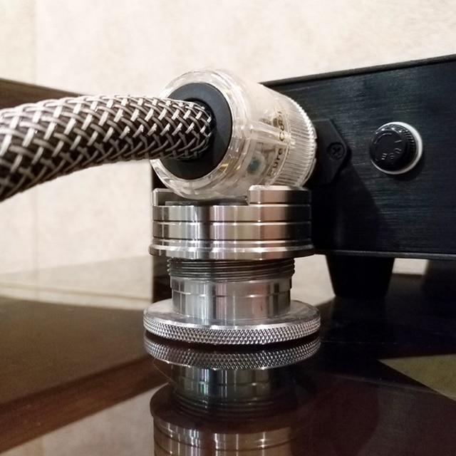 LP płyta winylowa regulowany HIFI głośniki audio kabel zasilający Pad Anti shock amortyzator Pad absorpcji drgań stoi