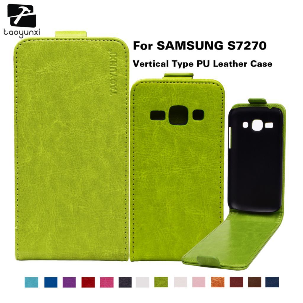 Taoyunxi Kasus Telepon Untuk Samsung Galaksi Ace 3 3g S7270 Galaxy Putih Lte Kerangka Sarung S7275 S7272 S7278 Pu Kulit Magnetik Tas