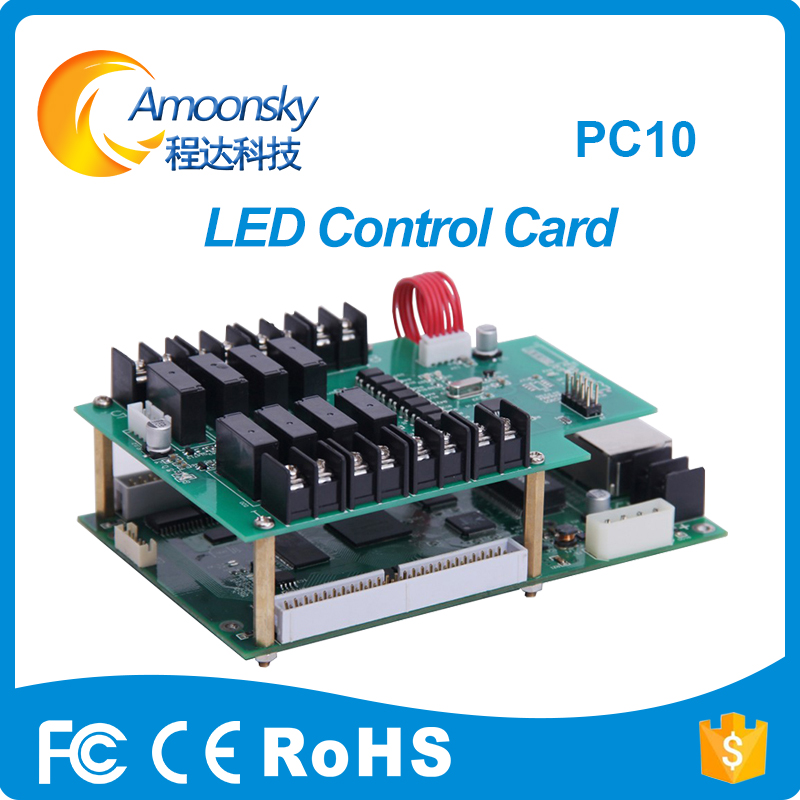 Trailer LED Display Power Supply Control Card Mooncell PC10 for led full color hot selling of led system control board diy led display kit 1 pcs jn power supply dip outdoor rg color led display p10 1 pcs led control card 1 pcs controller
