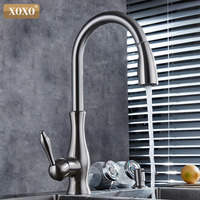 XOXO luxury kitchen faucet head quality copper brush nickel exports atomization pull out kitchen sink faucets Mixer tap 83034