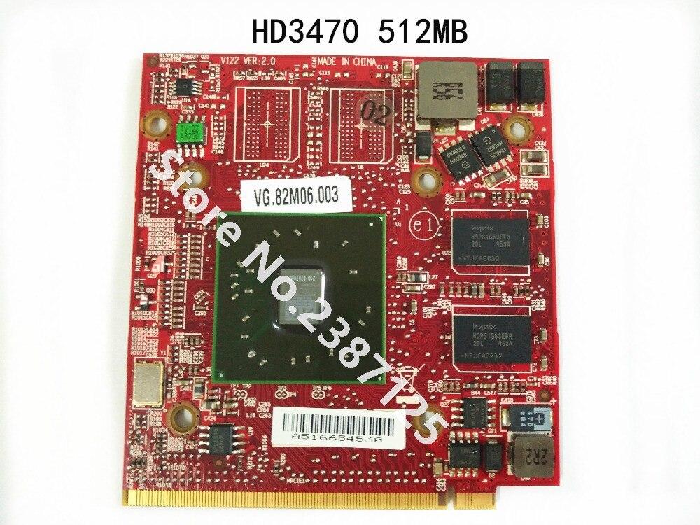Para HD3470 ATI Mobility Radeon HD 3470 512 MB tarjeta gráfica Video para Acer Aspire 4920G 5530G 5720G 6530G 5630G 5920G 32775493780