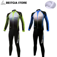 2018 Bicycle Jerseys Cycling Set Winter Thermal Fleece Long Sleeves Racing MTB Suit Maillot Bike Clothing For Men Ropa Ciclismo