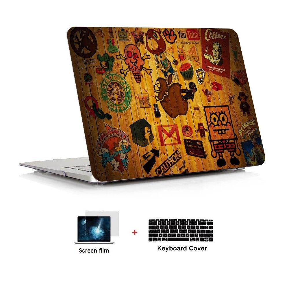 Caso da série da pintura a óleo para nova apple macbook ar pro retina 11 12 13 15 barra de toque 13 15 polegada a1989 a1706 a1708 a1990 a1707