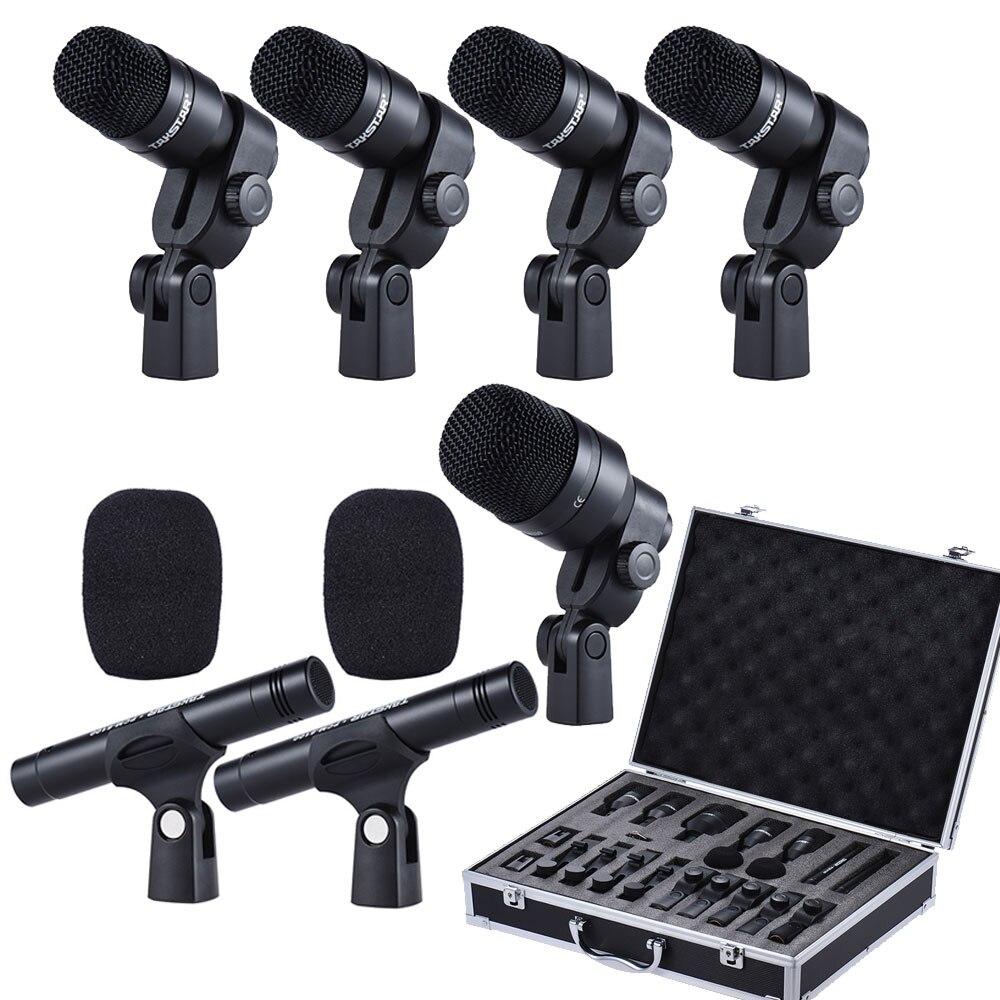 TAKSTAR DMS-D7 excelente audio Profesional instrumentos musicales conjunto de tambor micrófono con cable Kit de micrófono