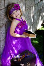 Фиолетовый цветочница платье свадебное платье 2016 детское платье платье возраст фортепианную музыку