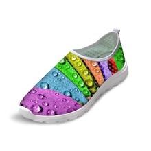 Noisydesings Water Drop Повседневная обувь Женская летняя воздушная сетка Супер легкий Комфортные квартиры Обувь Ножная обертка Большие большие