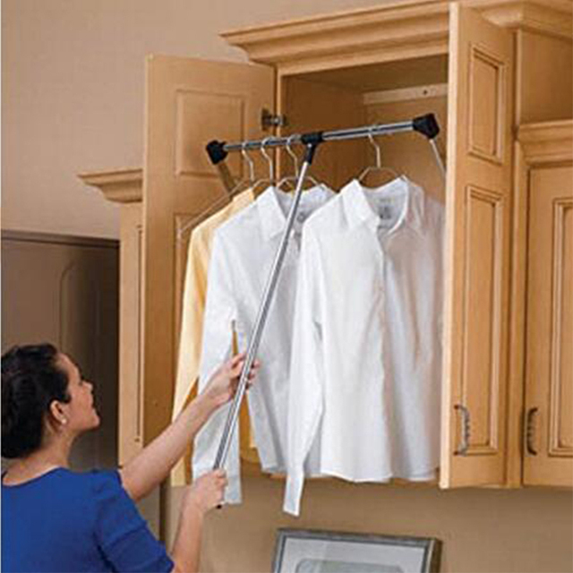 Lovely Probrico Wardrobe Lift Handle Heavy Duty Adjustable Pull Down Storage  Organizer Clothes Hanger For Inside