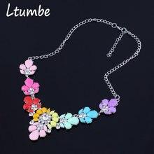 2dd679c3dd80 Tumblr nueva Maxi Bohemia coloridos collares de cristal agua gota flores  declaración collares colgantes para las mujeres joyería.
