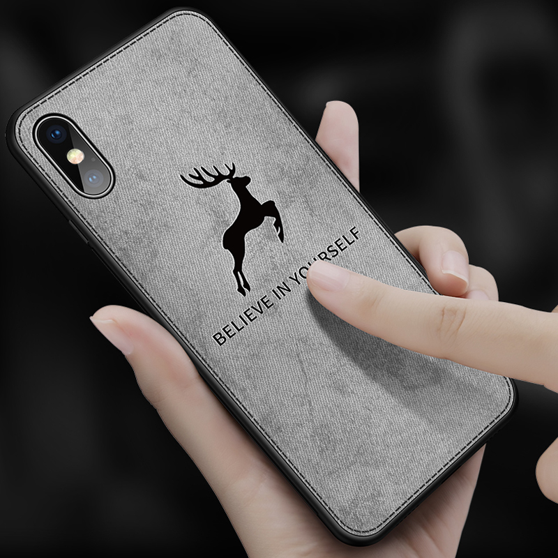 Phone Case For iphone Xs Max 7 8 plus iPhonex luxury Soft TPU Phone Case Soft cloth 3D Pattern Cute Deer For iphone X Xs Max XR