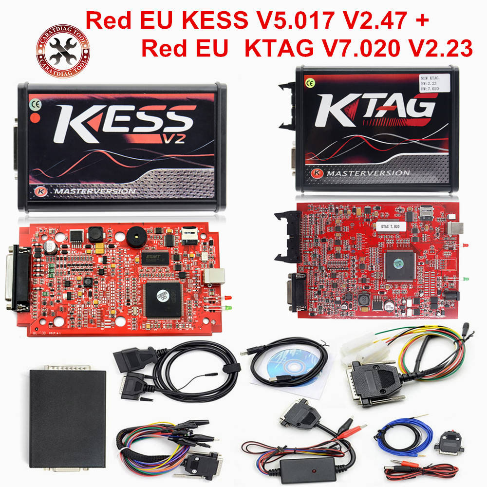 US $53 2 5% OFF|Newest RED KESS V2 V5 017 V2 47 ECU Chip Tuning EU Master  Online KESS 5 017 KTAG 7 020 Manager Tuning Kit For Car Truck -in Code