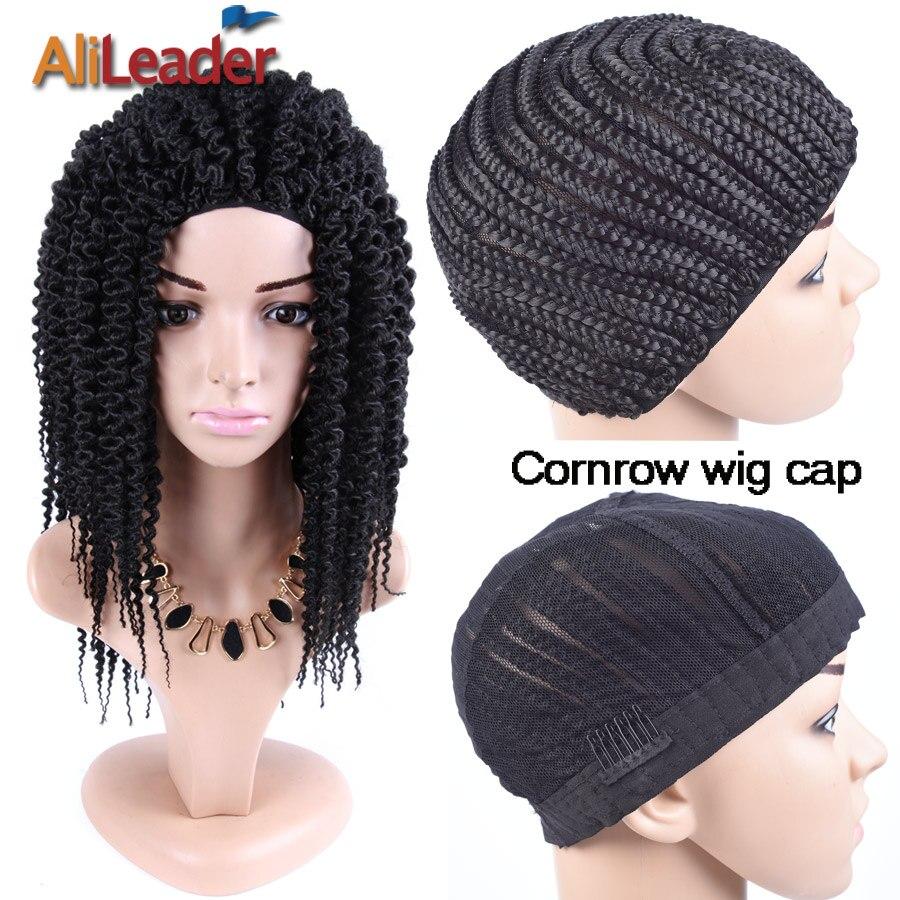 Alileader Cornrow perruque casquettes bonne