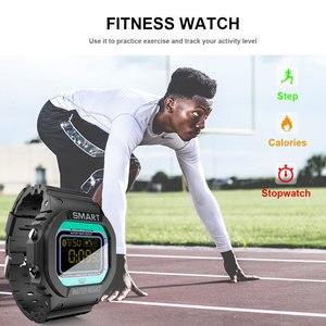 Image 3 - COXRY dikdörtgen akıllı saat spor saatler erkekler bilezik 2019 Smartwatch koşu kadınlar dijital elektronik kol saati saat alarmı