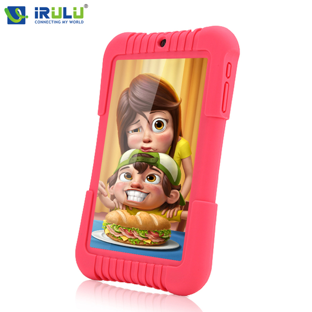 "2016 Original iRULU Y3 7"" Babypad 1280*800 IPS A33 Quad Core Android 5.1 Tablet PC 1G/16G With Silicone Case iRULU Kids Tablet"