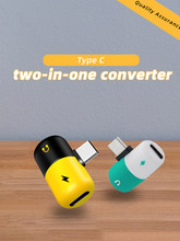 2 in 1 Audio Charger Adapter Type-C For Huawei Xiaomi Android Smartphone AUX Jack to Listening Call Charging Convertor Splitter(China)