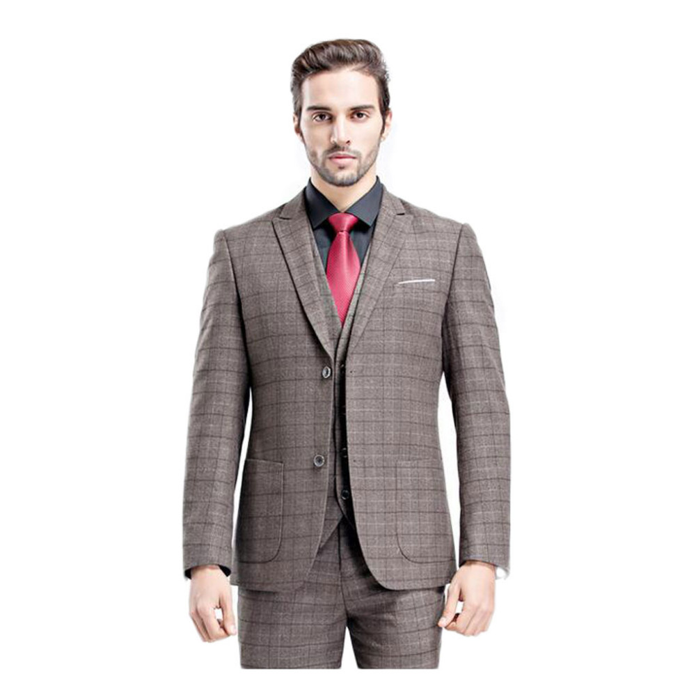 Online Buy Wholesale grey plaid suit from China grey plaid suit