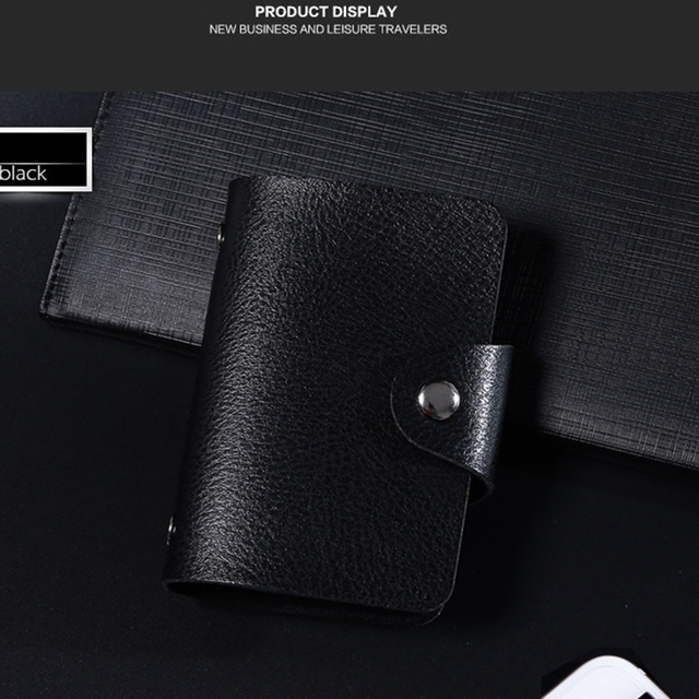 Fashion PU Leather Function 24 Bits Card Case Business Card Holder Men Women Credit Passport Card Bag ID Passport Card Wallet 5