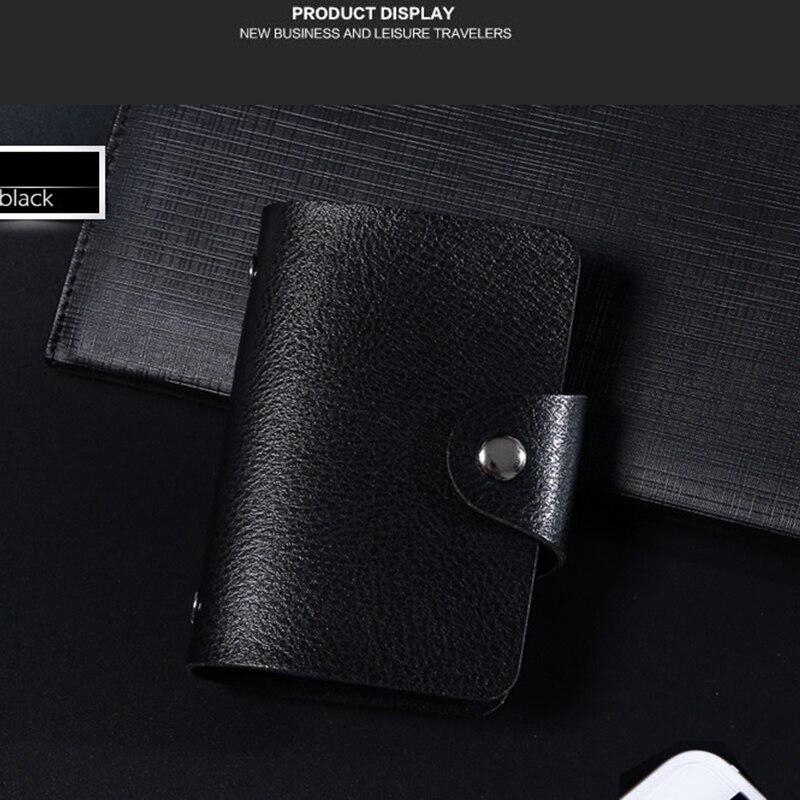 Fashion PU Leather 20 Bits Card Case ID Card Holder Credit Passport Bag Wallet