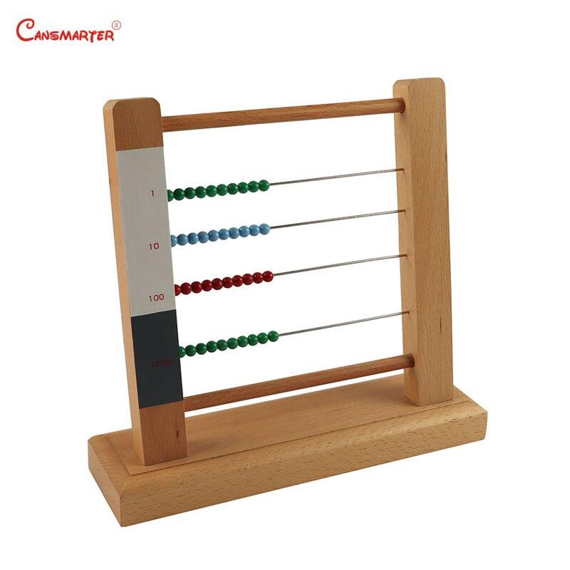 Soroban Abacus cadre jouet enfants Montessori matériaux jeu éducatif aides pédagogiques apprentissage maths jouets en bois amical MA070-3 - 3