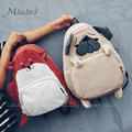 Урожай симпатичные дизайнер собака лиса ухо вышивка вельвет холст женщины рюкзак школьный ноутбук сумка девушки рюкзак путешествия mochila