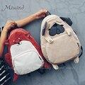 Vintage lindo del perro del diseñador fox oído pana bordados mujeres de la lona mochila escolar mochila portátil bolsa de niñas mochila de viaje mochila