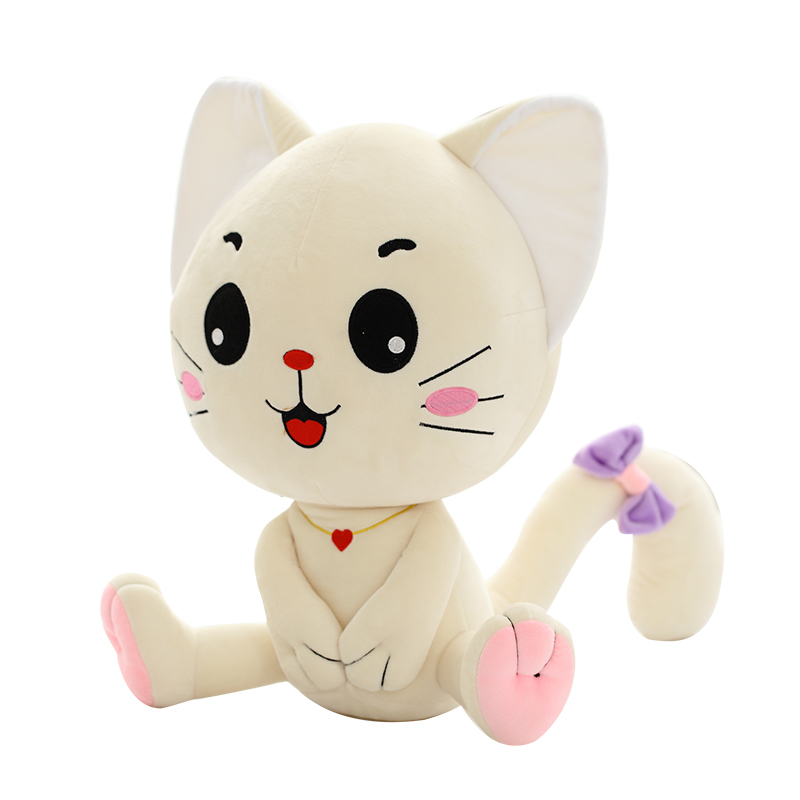 Emoji Pillow Expression Katt Plysch Leksaker Sittande Smilies Katt - Plysch djur