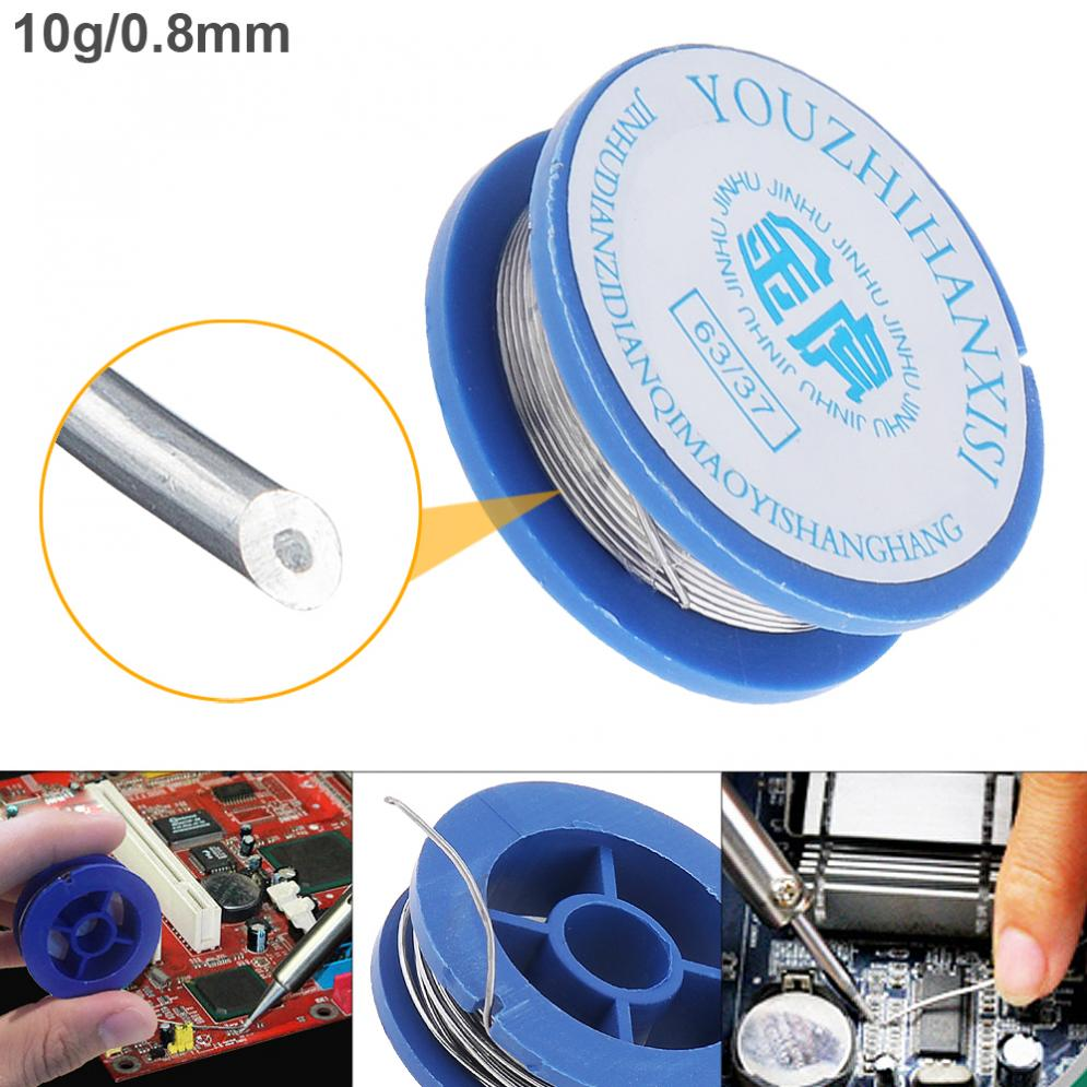 Welding Wire 10g/11g 0.8mmHigh Purity Rosin Core Solder Wire 63/37 Solder With Flux For Aluminum Soldering Lead Solder