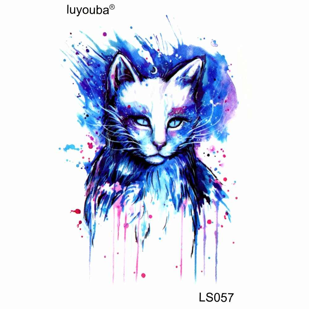 สีขาวแมวกันน้ำชั่วคราวคนรอยสักMaquiagemฮาราจูกุt atto h ello k ittyรอยสักtatouage g litter tatooสักเด็ก
