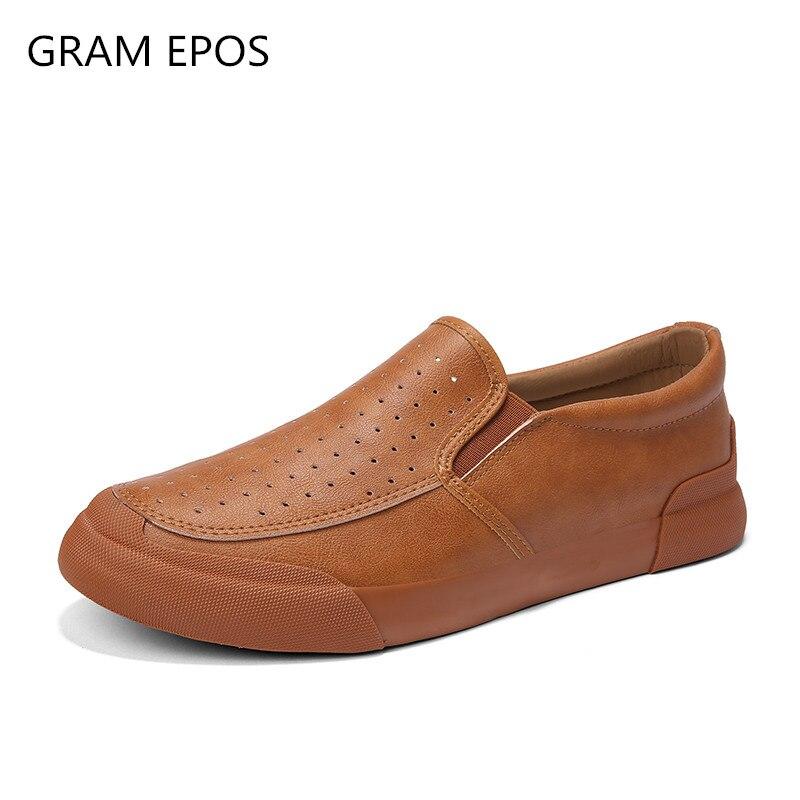 D'été Confortable Mocassins Gram Noir Epos 2018 Casual Automne On Slip Hommes Chaussures Plat marron gris Robe Conduite Printemps CvzvqnrwXZ
