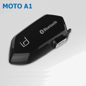 Image 1 - Moto A1 IPX6 Waterproof Boomless Mic Helmet Bluetooth Headset Motorcycle Comunicador Capacete Headphone Speaker for 2 Phones GPS