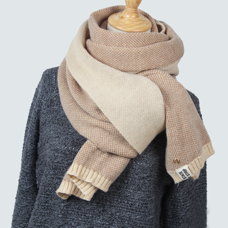 High Quality Women 39 S Scarf Winter Wool Knitted Scarf Collar Scarves Thicken Warm Fashion
