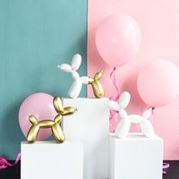 Nordic INS Creative Gold Balloon Dog Living Room Bedroom TV Cabinet Decoration Cute Resin Animal Ornaments Birthday Gift