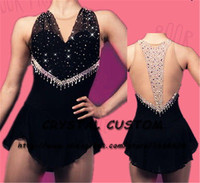 Crystal Custom Figure Skating Dress Girls New Brand Ice Skating Clothes For Competition DR4664
