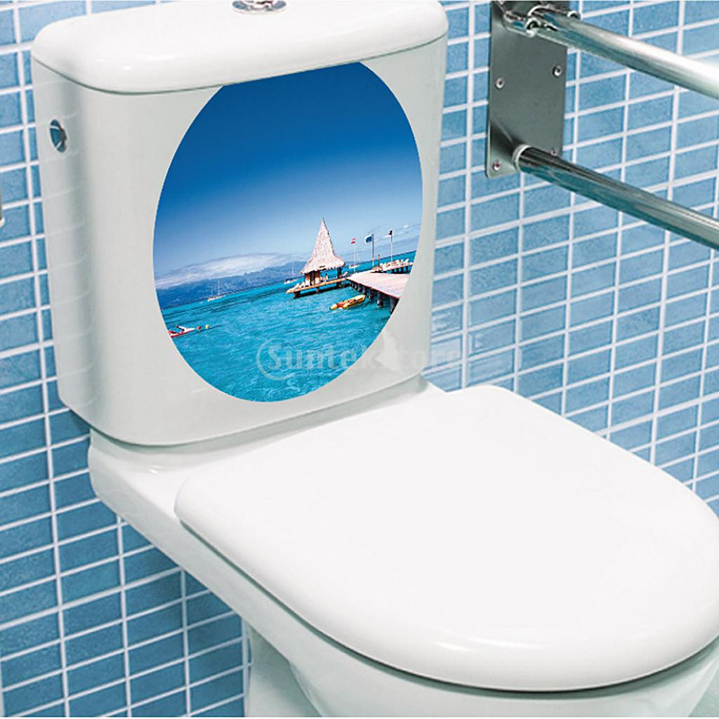 PVC Toilet Seat Wall Sticker Natural Pebbles Vinyl Art Wallpaper ...