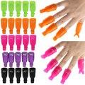 10 Unids 7 color Casquillo Clip de Plástico Acrílico Nail Art Soak Off UV Gel Removedor de Esmalte de Uñas