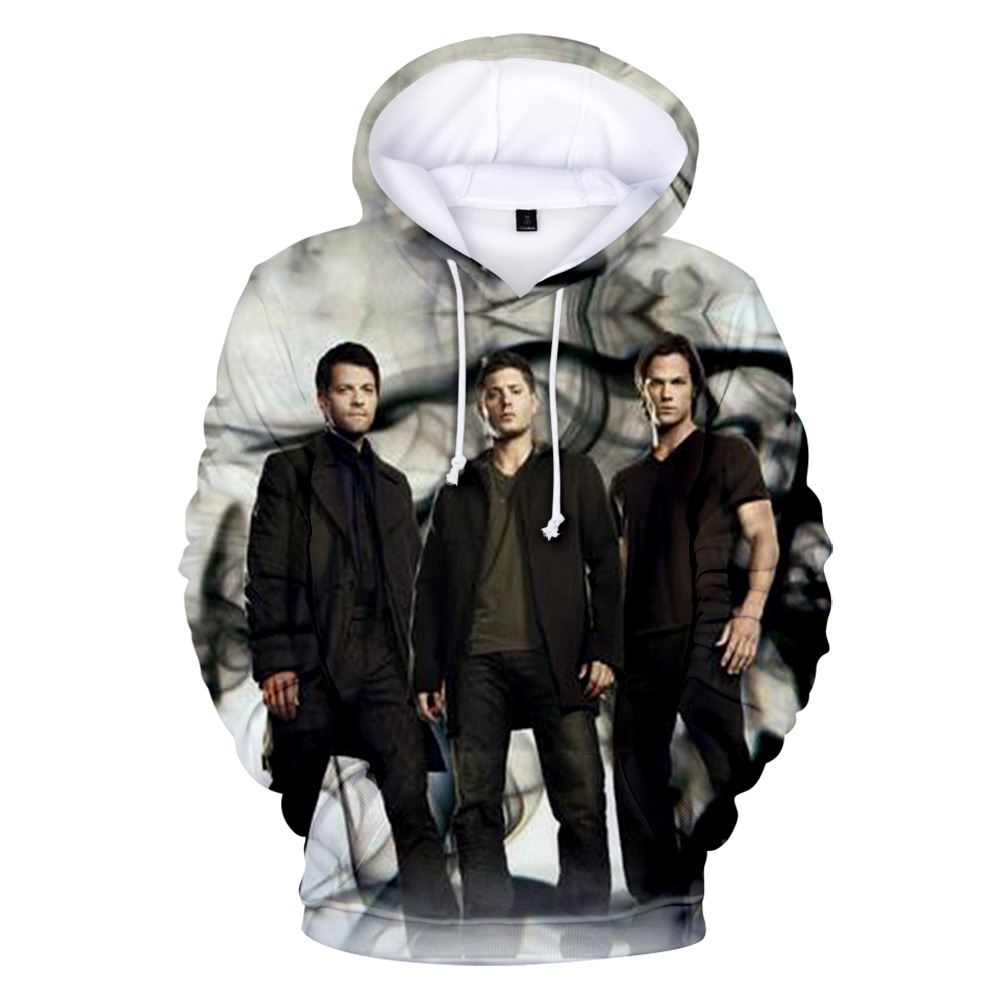 Aikooki Newest 3D Supernatural Hoodies Men/Women Fashion Casual Hip Hop Hoodie 3D Print Supernatural Sweatshirt Top