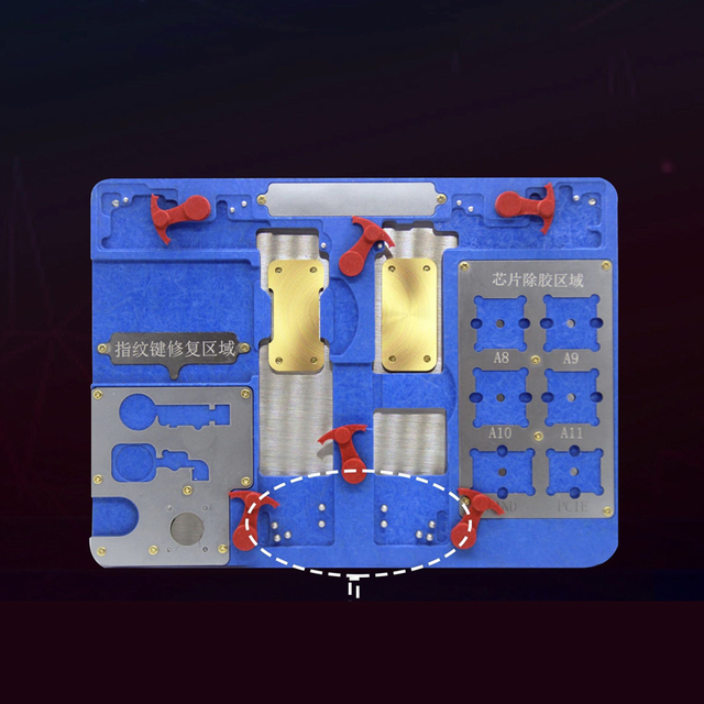 iPhone Motherboard Repair Fixture CPU Hard disk Fingerprint home button repair Holder jig For iPhone 8 7 7p 6s 6sp 6P 6