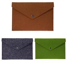 Soft Felt Inner Laptop Bag for 11″ Notebook Case Snap-fastener Protective Sleeve Cover for 11 Inch Tablet PC Pad for Macbook Air