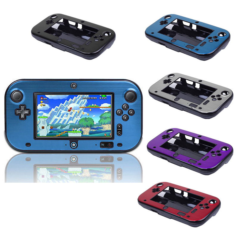 Anti-Shock Aluminum Metal Hard Protective Case For Wii U Gamepad Box Cover Case Shell For WiiU Controller Accessories