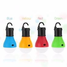 1PC Outdoor Camping Lamp Tent Light Torch Flashlight Hanging Flat LED Light 3 Modes Adjustable Lantern AAA Battery Lamp