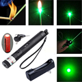 G301 532nm Green Laser Pointer Lazer Pen Burning Visible Beam+18650 Battery+Charger High Power #83884