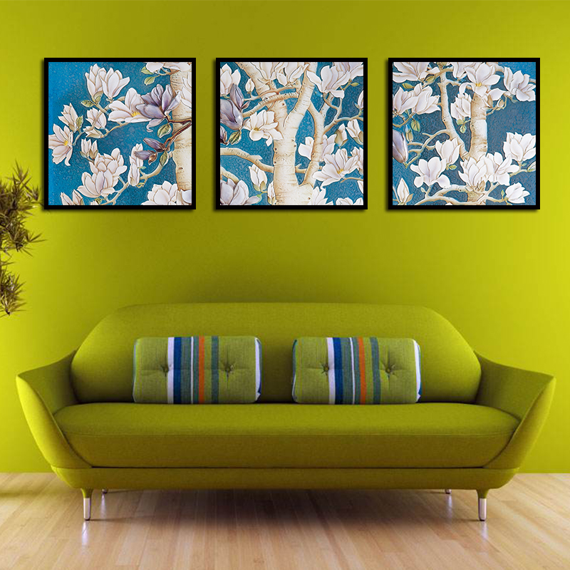 3Pcs oak tree flowers Oil poster Painting Oil Painting Printed ...