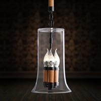 Свеча Скандинавское стекло небольшой кулон индивидуальность креативная маленькая необычная люстра кофейная барная декоративная люстра