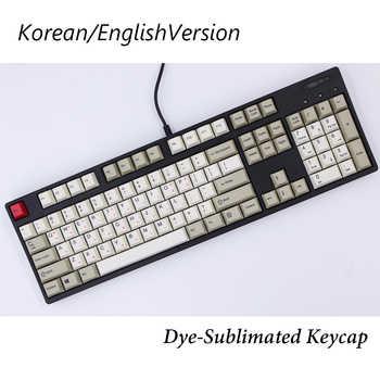 MP Cherry Profile English/Korean Version Dye-Sublimation 87/112 Keys Thick PBT Keycaps MX Switch Mechanical Keyboard Keycap