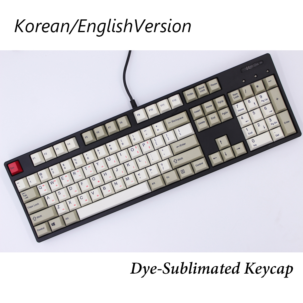 MP English/Korean Version Dye-Sublimated 87/112 Keys Thick PBT keycaps MX Switch Cherry/NOPPOO/Flick Mechanical Keyboard Keycap mp 104 87 keys red gradient cherry mx switch pbt keycaps radium valture side printed keycap for mechanical gaming keyboard