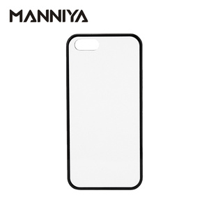 Image 1 - MANNIYA 2D Sublimation Blank rubber TPU+PC Case for iphone 5/5S/SE with Aluminum Inserts and Glue Free Shipping! 100pcs/lot