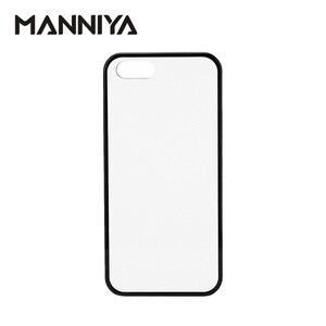 Image 1 - MANNIYA 2D di Sublimazione In Bianco gomma di TPU + Cassa Del PC per iphone 5/5S/SE CON Inserti in alluminio E colla Trasporto Libero! 100 pz/lotto