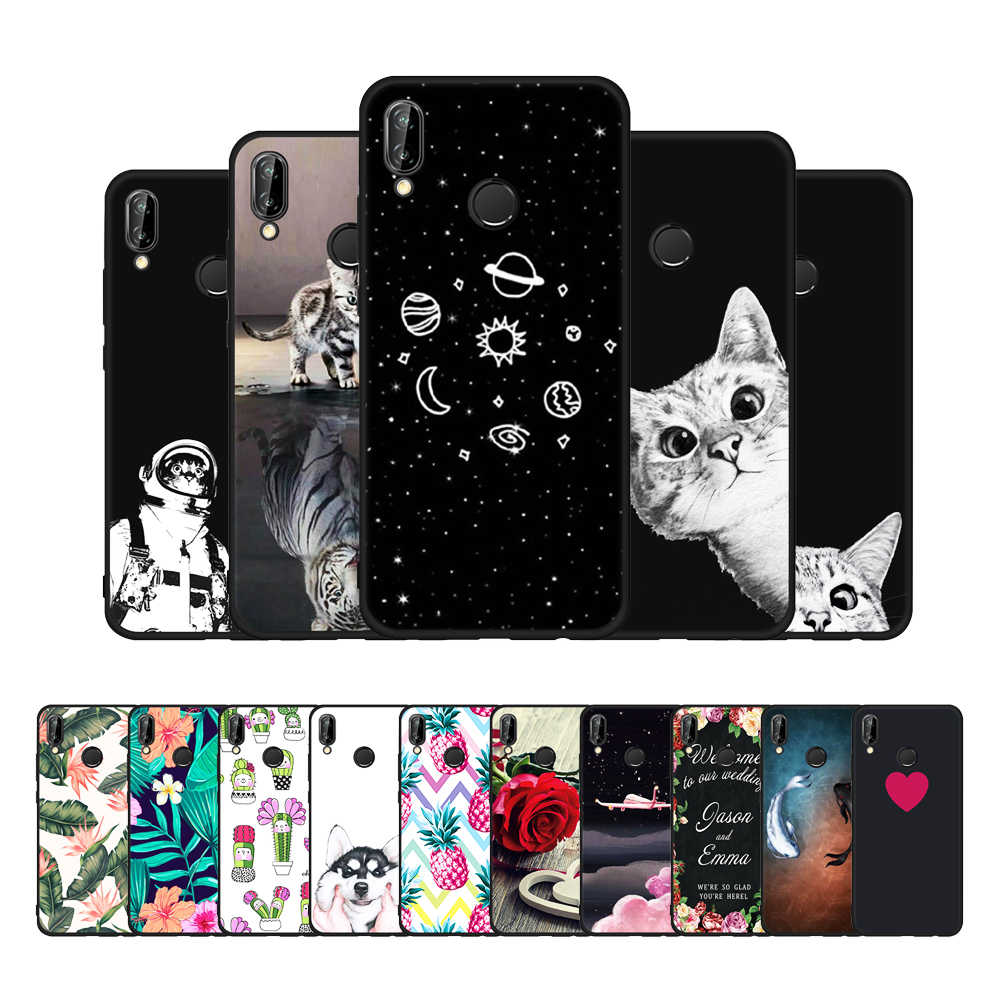 TPU Patterned Case For Huawei P20 Mate 10 P10 Lite P20 Pro P8 P9 Lite 2017 Y9 2018 For Honor 8 9 Lite 9i Nova 2i 3e Floral Cover